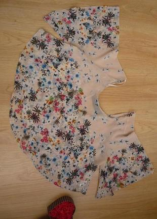 Блуза свободного кроя / цветочный принт / zara trafaluc