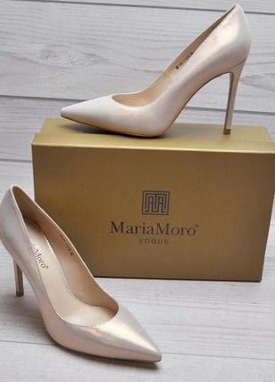 Туфли лодочки maria moro, натуральная кожа весна 2019
