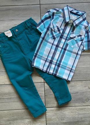 Новый набор на мальчика m&s, рубашка и штаны