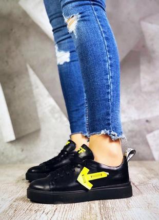Эксклюзивные кожаные кроссовки кеды с нашивками