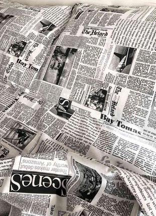 Постельный комплект газета бязь голд