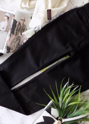 Высокая талия, базовые черные джинсы, супер-качество