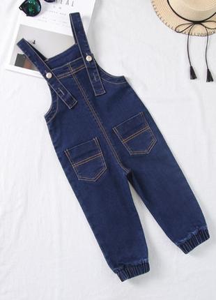 Новые детский джинсовый комбинезон