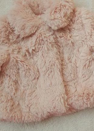 Big sale! новая очаровательная шубка пальто меховое early days на 3-6 мес большемерит