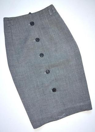 H&m. юбка карандаш базового серого цвета. хс. 4 -ка
