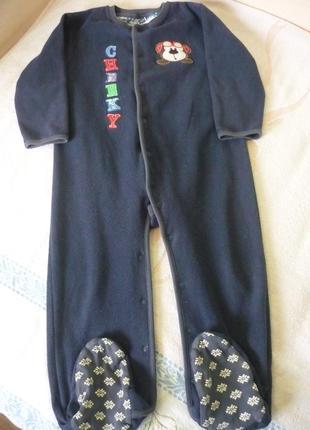 Теплый человечек, флисовый слип, пижама на 2-3,5 года