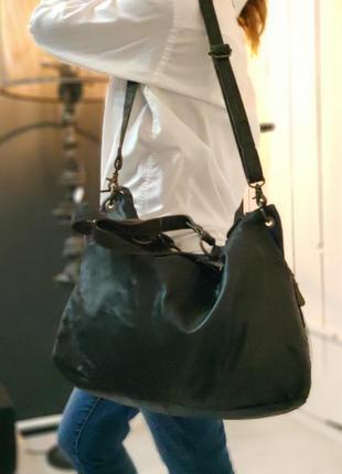 Aitems 100% оригинальная датская большая кожаная сумка.8