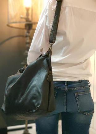 Aitems 100% оригинальная датская большая кожаная сумка.10