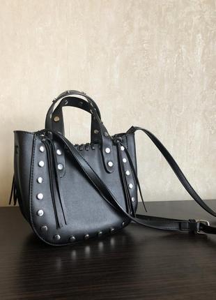 Маленькая чёрная сумка/сумка через плечо/чёрная сумка zara