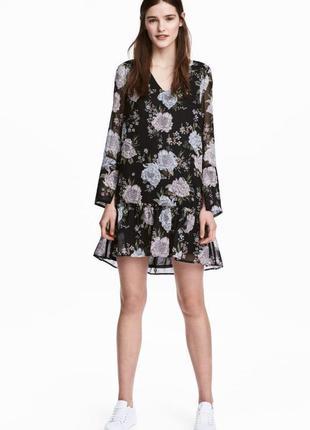 Платье в цветочек/летнее платье/платье h&m