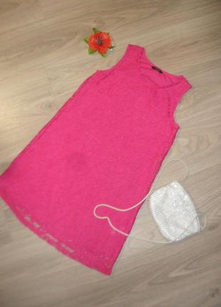 Кружевное платье на 10-11лет