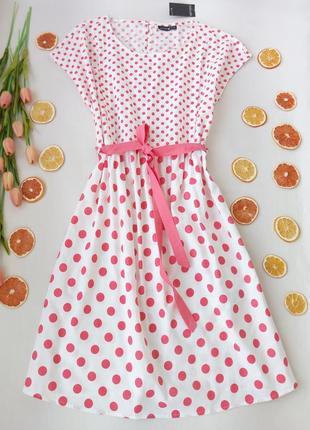 Хлопковое платье в горошек для мамочек кормящих грудью от esmara  размер xxxl (18)