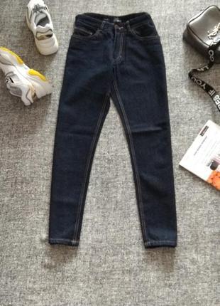 Базовые укороченные джинсы ,slim fit от бренда authentic denim-100 %котон/size 30.
