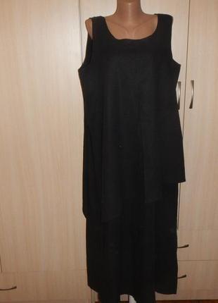 Натуральное льняное платье etam р.54
