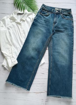 Самые трендовые джинсы кюлоты topshop р.xs