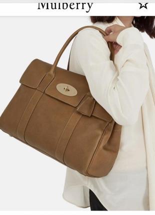 Кожаная сумка сумка кожаная  сумка большая италия mulberry 100% оригинал