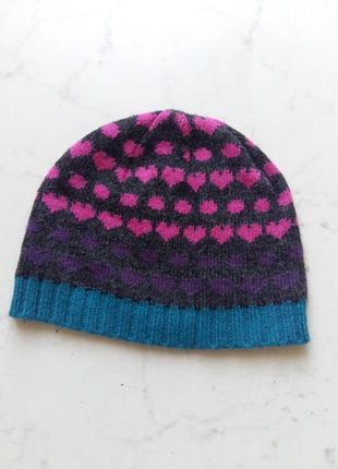 Демисезонная яркая шапка cherokee на 2-4 года