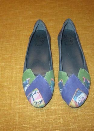 Кожаные туфли балетки think