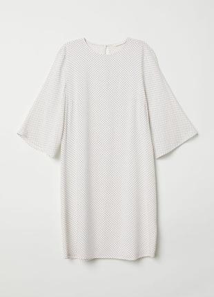 Воздушное натуральное платье с актуальным рукавом h&m