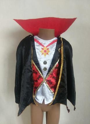 Карнавальный костюм вампир граф дракула 5-6 лет с клыками