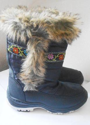 Красивые теплые зимние сапоги для девочки, р.32 код w3201