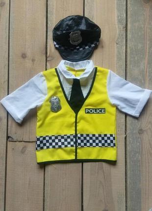 Арнавальный костюм коп полицейский 5-8 лет