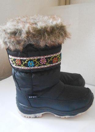 Красивые теплые зимние сапоги для девочки, р.30 код d3002