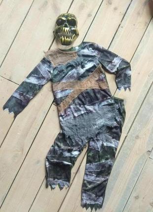 Карнавальный костюм мумия демон зомби 9-10 лет на хэллоуин