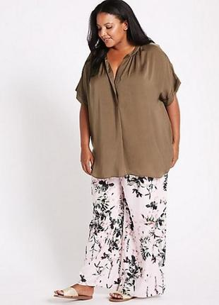 Летние брюки на резинке m&s размер 22-24, вискоза