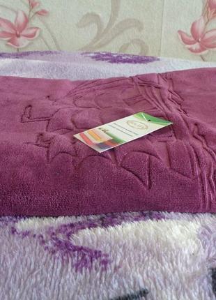 Качественные полотенца велюр микрофибра. банные. турция