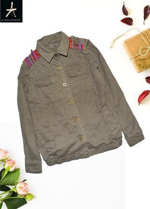 Куртка с вышивкой на плечах atmosphere