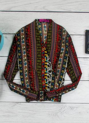 Шелковая  блуза в принт от boohoo рр 10 наш 44