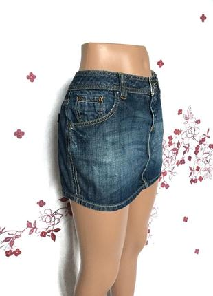 Красивая мини юбка джинс деним  1+1=3 🎁3
