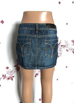 Красивая мини юбка джинс деним  1+1=3 🎁4