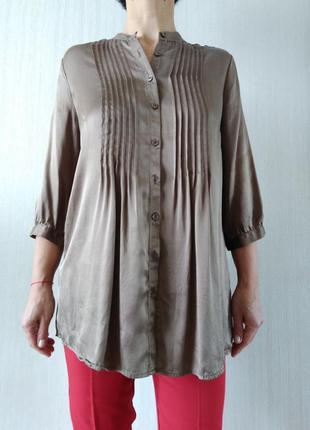 Стильная шелковая блуза c&a  р 42