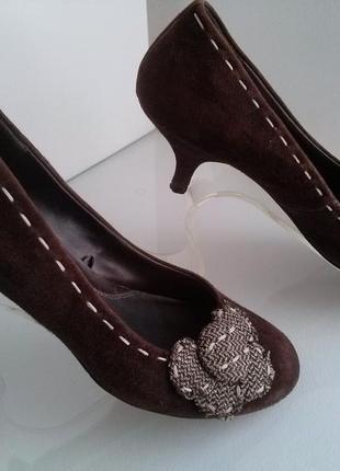 Туфельки с натурального замша