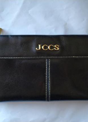 Кошелек кожаный натуральный jccs черный
