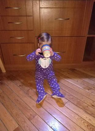 Флисовый комбинезон комбез ромпер пижама carter's 3t