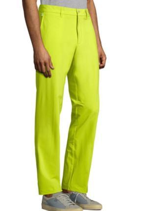 Мужские брюки цвета лайм от j. linderserg
