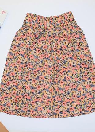 Легкая яркая летняя юбка в цветы