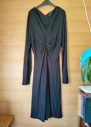 Чёрное трикотажное платье под грудь seventy