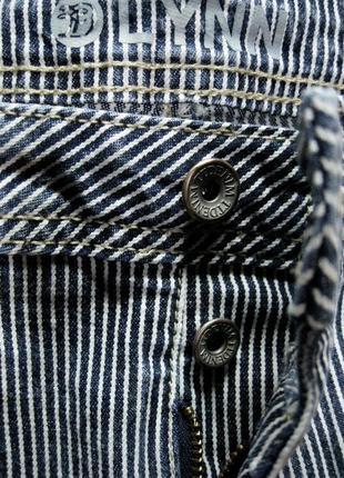Крутые джинсы - мом в полоску lynn anti fit
