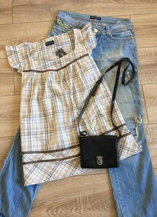 Хлопковая блуза распашонка летняя