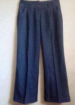 Трендовые широкие брюки с манжетами
