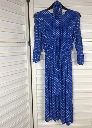 Платье голубое синее длинное vovk размер s