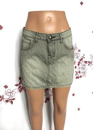 Стильная джинсовая деним мини юбка  1+1=3 🎁