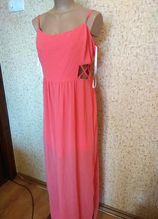 Шифоновое платье 48 размер