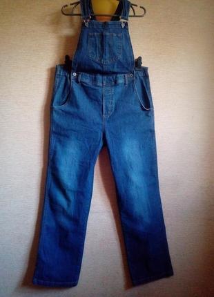 Брючный джинсовый комбинезон на 50/52 размер