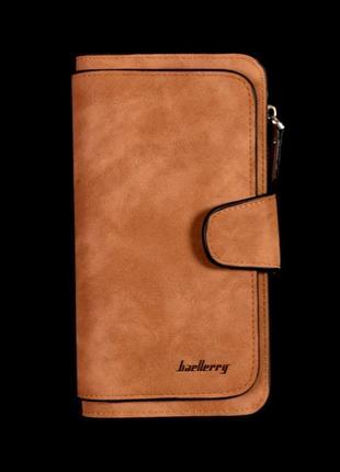 Замшевый кошелек baellerry forever коричневый