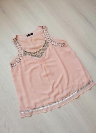 Розкішна персикова блуза (великий розмір)